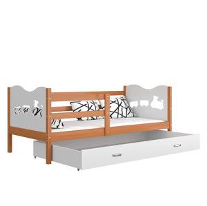 ArtAJ Detská posteľ MAX P drevo / MDF 200 x 90 cm Farba: jelša / biela 200 x 90 cm, Prevedenie: bez matraca