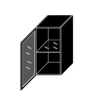ArtExt Kuchynská skrinka horná, W2S/40 Black Alu