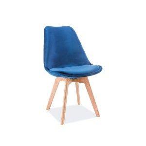 Signal Jedálenská stolička DIOR VELVET Farba: Modrá