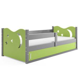 Detská posteľ Mikolaj 1 / SIVÁ 160x80 Farba: Sivá / zelená