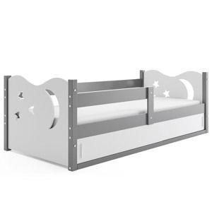 Detská posteľ Mikolaj 1 / SIVÁ 160x80 Farba: Sivá / biela