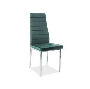 Signal Jedálenská stolička H237 velvet Farba: Tmavozelená