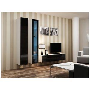 Artcam Obývacia stena Vigo 10 Farba: biela/čierny lesk