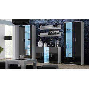 Artcam Obývacia stena Soho 10 Farba: biela/čierny lesk