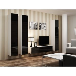 Artcam Obývacia stena VIGO 14 biela / čierna