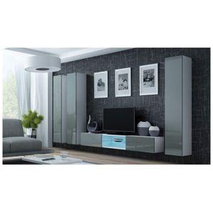 Artcam Obývacia stena Vigo 18 Farba: Biela/sivý lesk