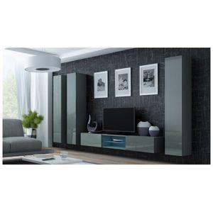 Artcam Obývacia stena Vigo 18 Farba: Sivá/sivý lesk