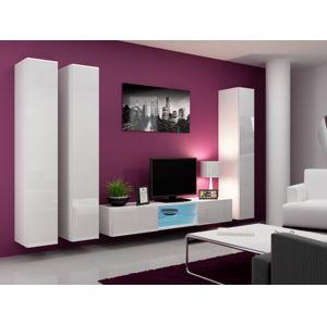 Artcam Obývacia stena Vigo 18 Farba: Biela/biely lesk