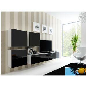 Artcam Obývacia stena Vigo 23 Farba: biela/čierny lesk