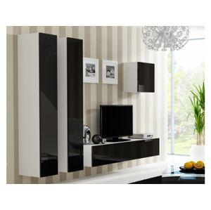 Artcam Obývacia stena Vigo 25 Farba: biela/čierny lesk