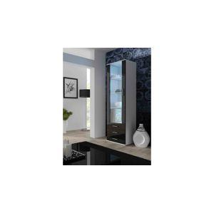 Artcam Stojaca vitrína SOHO S1 biela/čierna