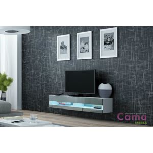 Artcam RTV stolík VIGO NEW 140 cm biely/sivý lesk
