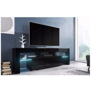 Artcam RTV stolík TORO 138 cm Farba: Čierna/čierny lesk