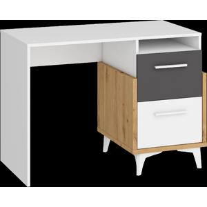 WIP Písací stôl HEY-03 105 Farba: Dub artisan/biela/grafit