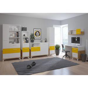 WIP Detská izba HEY 2 Farba: Dub artisan/biela/žltá