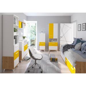 WIP Detská izba HEY 3 Farba: Dub artisan/biela/žltá