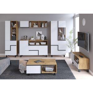 WIP Obývacia stena LARS 4 Farba: Dub burgundsky/biela