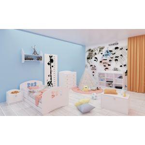 Happy Babies Detská posteľ Happy dizajn/mašlička Farba: Biela, Rozmer.: 160 x 80 cm
