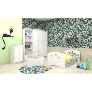 Happy Babies Detská posteľ Happy dizajn/mačičky Farba: Sivá, Rozmer.: 160 x 80 cm