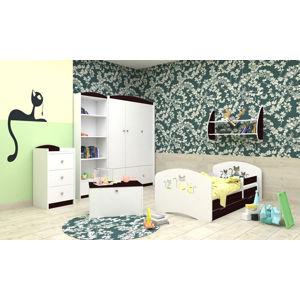 Happy Babies Detská posteľ Happy dizajn/mačičky Farba: Wenge, Rozmer.: 160 x 80 cm