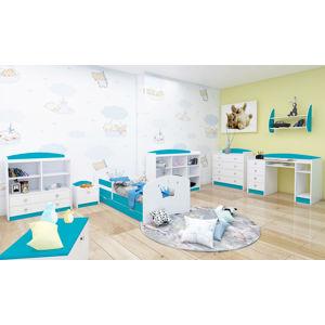Happy Babies Detská posteľ Happy dizajn/korunka Farba: Modrá, Rozmer.: 160 x 80 cm