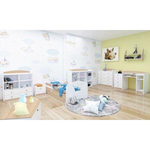 Happy Babies Detská posteľ Happy dizajn/korunka Farba: svetlá hruška, Rozmer.: 160 x 80 cm