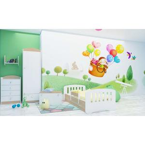 Happy Babies Detská posteľ Happy dizajn/čiarky Farba: svetlá hruška, Rozmer.: 160 x 80 cm