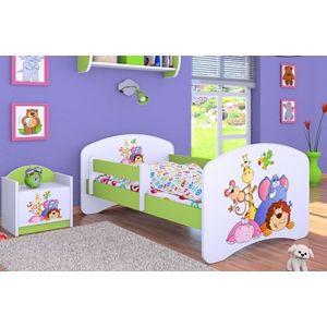 Happy Babies Detská posteľ HAPPY/ 05 Safari 180 x 90 cm Farba: Zelená / Biela, Prevedenie: L05 / 90 x 180 cm / bez úložného priestoru, Obrázok: Safari