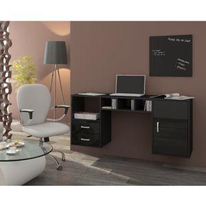 WIP Závesný PC stolík Hanger čierna / čierny lesk