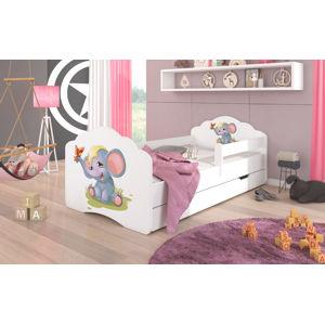 ArtAdr Detská posteľ Casimo Sloník Prevedenie: so zábranou