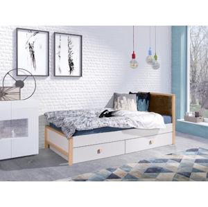 ArtBed Detská posteľ Zara Farba: Hnedé čelo - Quartz 105