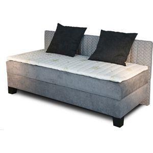 New design Čalúnená posteľ NOVO s dlhým čelom Rozmer.: 80 x 200 cm