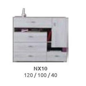 Meblar  Študentská izba Next fialová Next: Komoda Next NX10 fialová / š. 120 x v. 100 x h. 40 cm
