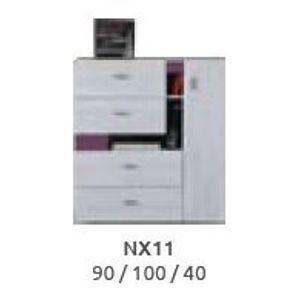 Meblar  Študentská izba Next čierna Next: Komoda Next NX11 čierna / š. 90 x v. 100 x h. 40 cm