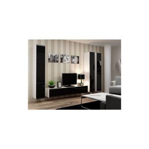 Artcam Obývacia stena Vigo I Farba: biela/čierny lesk