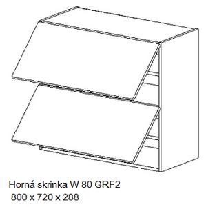 Kuchynská linka OLIWIA Typ: Horná skrinka OLIWIA W 80 GRF2
