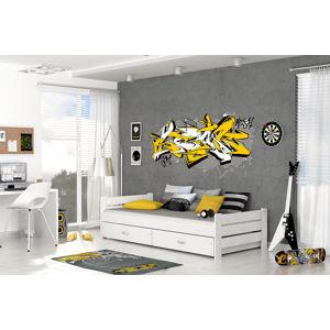 ArtAJ Detská posteľ Bartek P2 Farba: Biela, s matracom, MDF