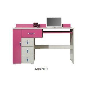 Detská izba Komi A ružová Komi: Písací stolík KM13 ružový / š. 130 x v. 86 x h. 55 cm
