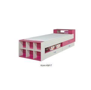 Detská izba Komi A ružová Komi: Posteľ KM17 ružová / š. 257 x v. 76 x h. 95 cm