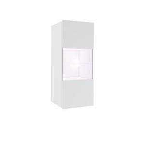 ArtElb Závesná vitrína CALABRINI Farba: Biela / biely lesk