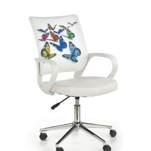 Detská stolička: HALMAR IBIS BUTTERFLY HALMAR - poťahový materiál: eco koža/ tkanina - viacfarebná