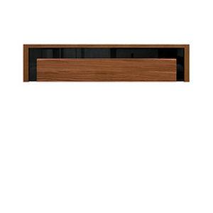 BRW Závesná skrinka: AROSA - SFW1K Farba: dub hnedý / čierny lesk