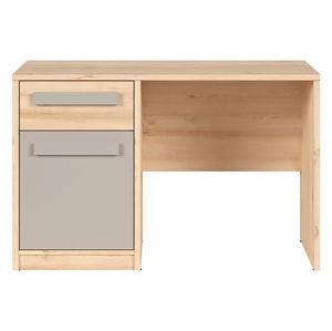BRW Písací stôl: NAMEK - BIU1D1S Farba: buk iconic/sivá