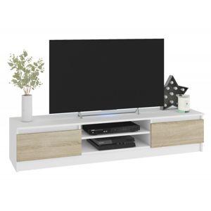 ArtAko TV stolík Clips K160 biela/dub sonoma Farba: Biela / dub sonoma