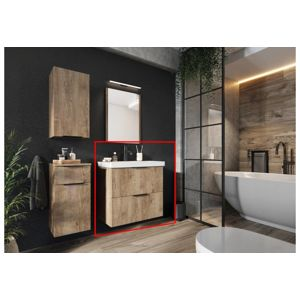 Artstolk Kúpeľňová zostava LYON | dub lefkas Varianta: Kúpeľňová skrinka LYON DUM VEA