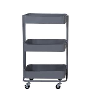3-poschodový vozík, tmavosivá, RUDIN