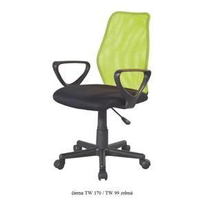 Tempo Kondela Kancelárska stolička BST 2010 BST 2010: Kancelárska stolička BST 2010 / čierna TW 170 / TW 99 zelená
