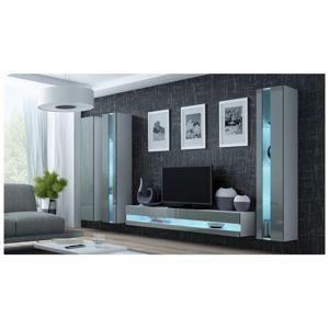 Artcam Obývacia stena Vigo VI new Farba: Biela/sivý lesk