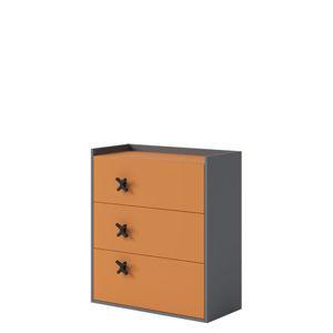 Komoda Iks X-09 Farba: Oranžová