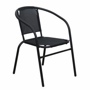 TEMPO KONDELA Stohovateľná stolička, tmavosivá/sivá, LESTRA